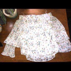 Wayf ivory blouse